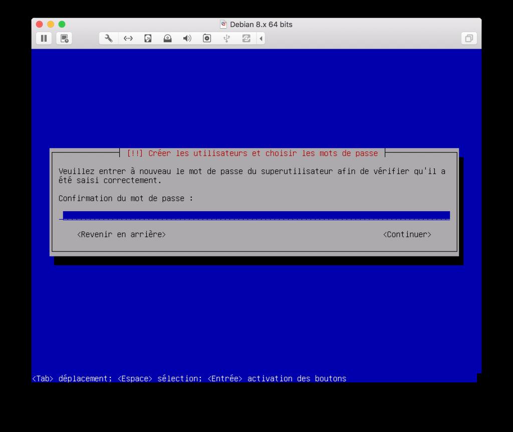 Mot de passe utilisateur  DEBIAN Jaguar network
