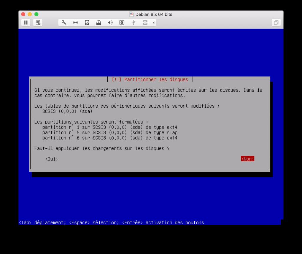 Formatage partition serveur DEBIAN Jaguar network