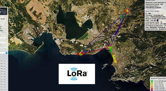 IoT et SmartCity : carte de couverture d'un réseau Lora