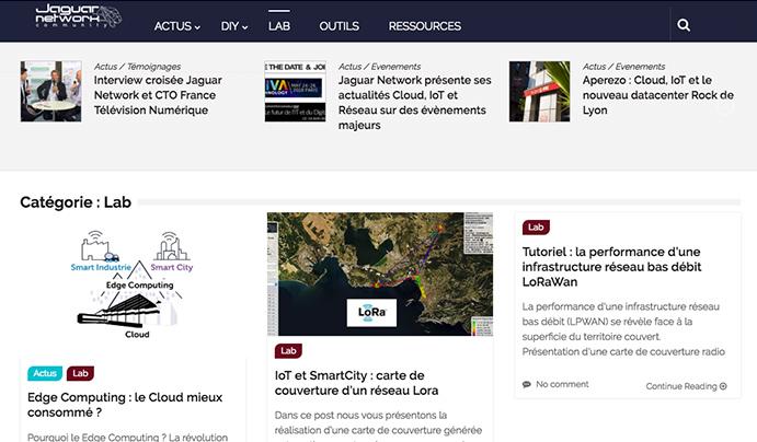 Découvrez les recherches IoT Big Data Jaguar Network dans le LAB de JN Community
