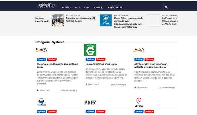 Accompagnement de vos services en ligne avec les How To JN community (système, sauvegarde, réseau, sécurité...)