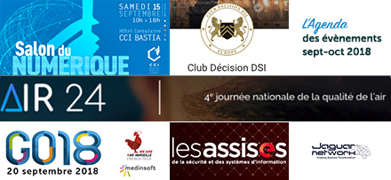 Evénements Cloud, DSI, IoT, sécurité et networking : save the date
