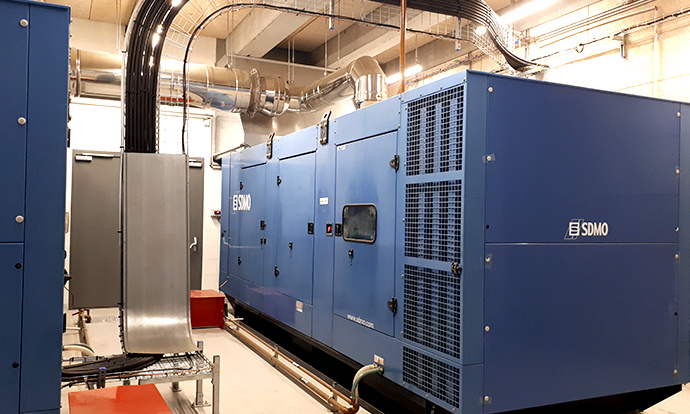Groupe électrogène datacenter Rock Jaguar Network Lyon.
