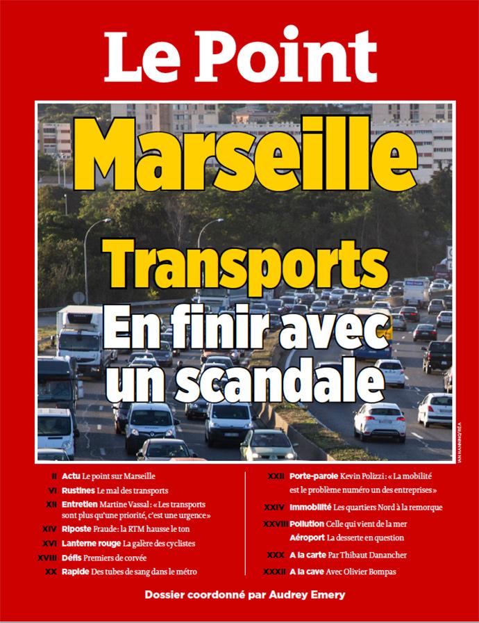 Couverture le point Marseille et la mobilité - octobre 2018 Interview de Kevin POLIZZI pour Le Point Spécial Marseille et mobilité.