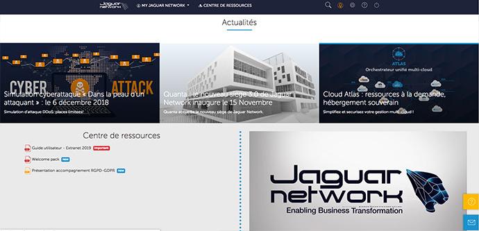 Espace Actualités sur le nouvel Extranet Jaguar Network