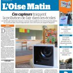 Parution Presse Le Parisien capteurs indoor pour la qualité de l'air dans les écoles et les crêches